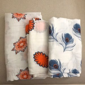 Aden + Anais Muslin Swaddle Baby Blankets Nuetral